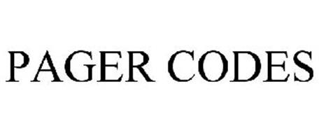PAGER CODES Trademark of M&J Construction Specialties, Inc ...