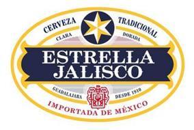 CERVEZA TRADICIONAL CLARA DORADA ESTRELLA JALISCO GUADALAJARA DESDE 1910 IMPORATADA DE MEXICO
