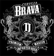 CERVEZA BRAVA 100% MALTA TJ MARZEN STYLE AMBER PREMIUM MARZN IMPORTED BEER