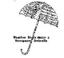 WEATHER STUDY UNDER A NEWSPAPER UMBRELLA