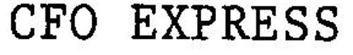 CFO EXPRESS