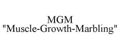 """MGM """"MUSCLE-GROWTH-MARBLING"""""""
