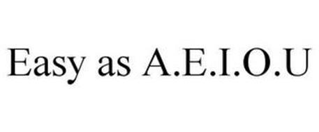 EASY AS A.E.I.O.U