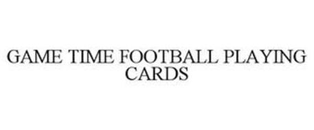 GAME TIME FOOTBALL PLAYING CARDS
