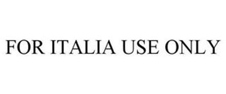 FOR ITALIA USE ONLY