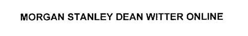 MORGAN STANLEY DEAN WITTER ONLINE