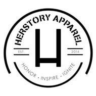 H HERSTORY APPAREL EST. 2014 HONOR INSPIRE IGNITE