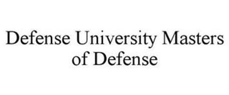 DEFENSE UNIVERSITY MASTERS OF DEFENSE