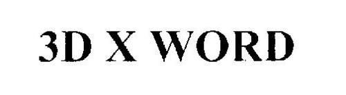 3D X WORD