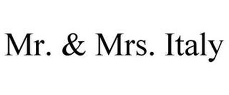 MR. & MRS. ITALY