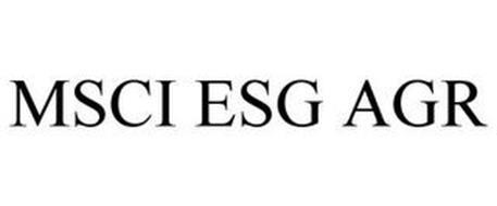 MSCI ESG AGR