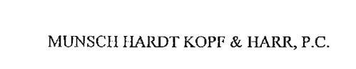 MUNSCH HARDT KOPF & HARR, P.C.