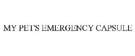 MY PET'S EMERGENCY CAPSULE