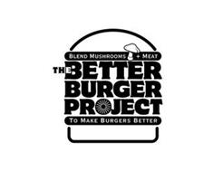 BLEND MUSHROOMS + MEAT THE BETTER BURGER PROJECT TO MAKE BURGERS BETTER