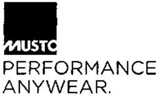 MUSTO PERFORMANCE ANYWEAR.