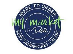 MY MARKET & DELI MADE TO ORDER SUBS · SANDWICHES · SALADS