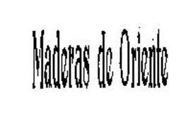 MADERAS DE ORIENTE