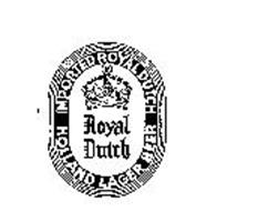 ROYAL DUTCH IMPORTED ROYAL DUTCH HOLLAND LAGER BEER