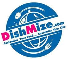 DISHMIZE.COM CUSTOMIZE YOUR FOOD ... CUSTOMIZE YOUR LIFE