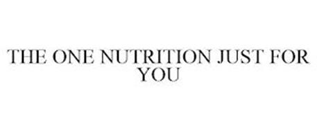 THE ONE NUTRITION JUST FOR YOU