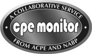 CPE MONITOR A COLLABORATIVE SERVICE FROM ACPE AND NABP