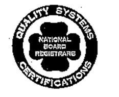 NATIONAL BOARD REGISTRARS QUALITY SYSTEMS CERTIFICATIONS