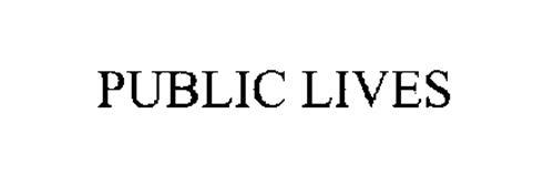 PUBLIC LIVES