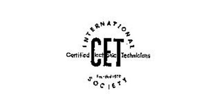 INTERNATIONAL SOCIETY CET CERTIFIED ELECTRONIC TECHNICIANS FOUNDED 1970