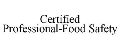 CERTIFIED PROFESSIONAL-FOOD SAFETY