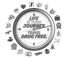 LIFE IS YOUR JOURNEY. TRAVEL DRUG FREE.NSEW