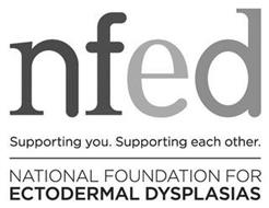 NFED SUPPORTING YOU. SUPPORTING EACH OTHER. NATIONAL FOUNDATION FOR ECTODERMAL DYSPLASIAS