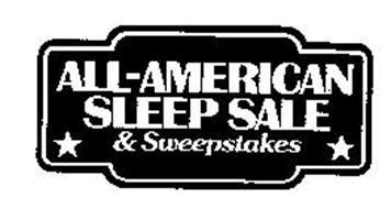 ALL-AMERICAN SLEEP SALE & SWEEPSTAKES