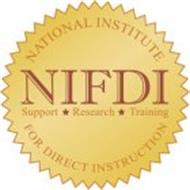 NIFDI SUPPORT RESEARCH TRAINING NATIONAL INSTITUTE FOR DIRECT INSTRUCTION