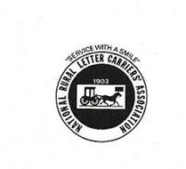 """""""SERVICE WITH A SMILE"""" NATIONAL RURAL LETTER CARRIERS' ASSOCIATION 1903"""