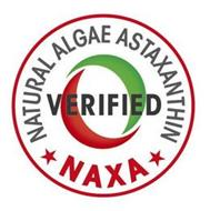 NATURAL ALGAE ASTAXANTHIN VERIFIED NAXA