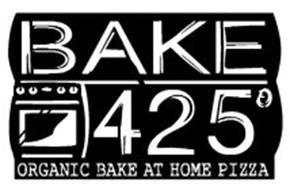 BAKE 425° ORGANIC BAKE AT HOME PIZZA