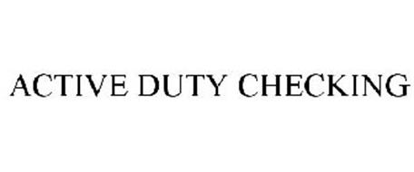 ACTIVE DUTY CHECKING