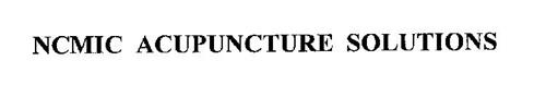 NCMIC ACUPUNCTURE SOLUTIONS