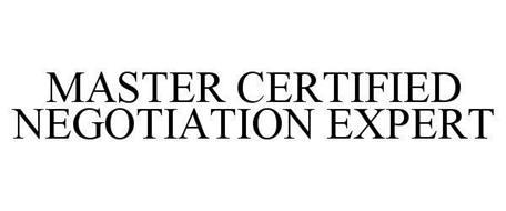 MASTER CERTIFIED NEGOTIATION EXPERT