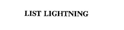 LIST LIGHTNING
