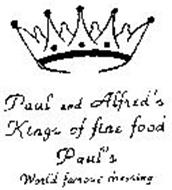 PAUL AND ALFRED'S KINGS OF FINE FOOD PAUL'S WORLD FAMOUS DRESSING