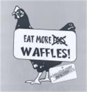 EAT MORE EGGS WAFFLES! CARBON'S GOLDEN MALTED PANCAKE & WAFFLE FLOUR SINCE 1937