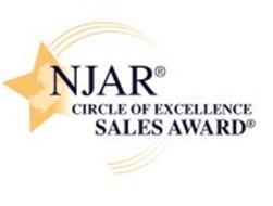 NJAR CIRCLE OF EXCELLENCE SALES AWARD