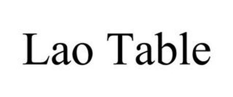 LAO TABLE