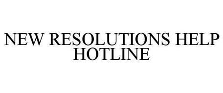 NEW RESOLUTIONS HELP HOTLINE