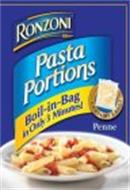 RONZONI PASTA PORTIONS BOIL-IN-BAG IN ONLY 3 MINUTES CONTAINS 3 BAGS PENNE
