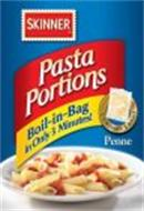 SKINNER PASTA PORTIONS BOIL-IN-BAG IN ONLY 3 MINUTES! CONTAINS 3 BAGS PENNE