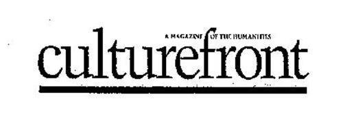 CULTUREFRONT A MAGAZINE OF THE HUMANITIES