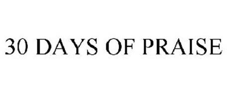 30 DAYS OF PRAISE