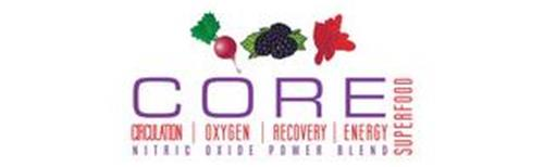 CORE CIRCULATION | OXYGEN | RECOVERY | ENERGY NITRIC OXIDE POWER BLEND SUPERFOOD